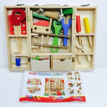 Montessori Baby Toys Wooden Maintenance Tool Set Educational For Kids Nut Fitting Combination DIY Children Gift