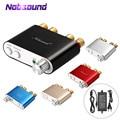 2018 Lastest Nobsound HiFi 100W TPA3116 Mini Bluetooth 4.0 Amplificador Digital Amplificador De Áudio Em Casa Com Fonte De Alimentação FRETE GRÁTIS
