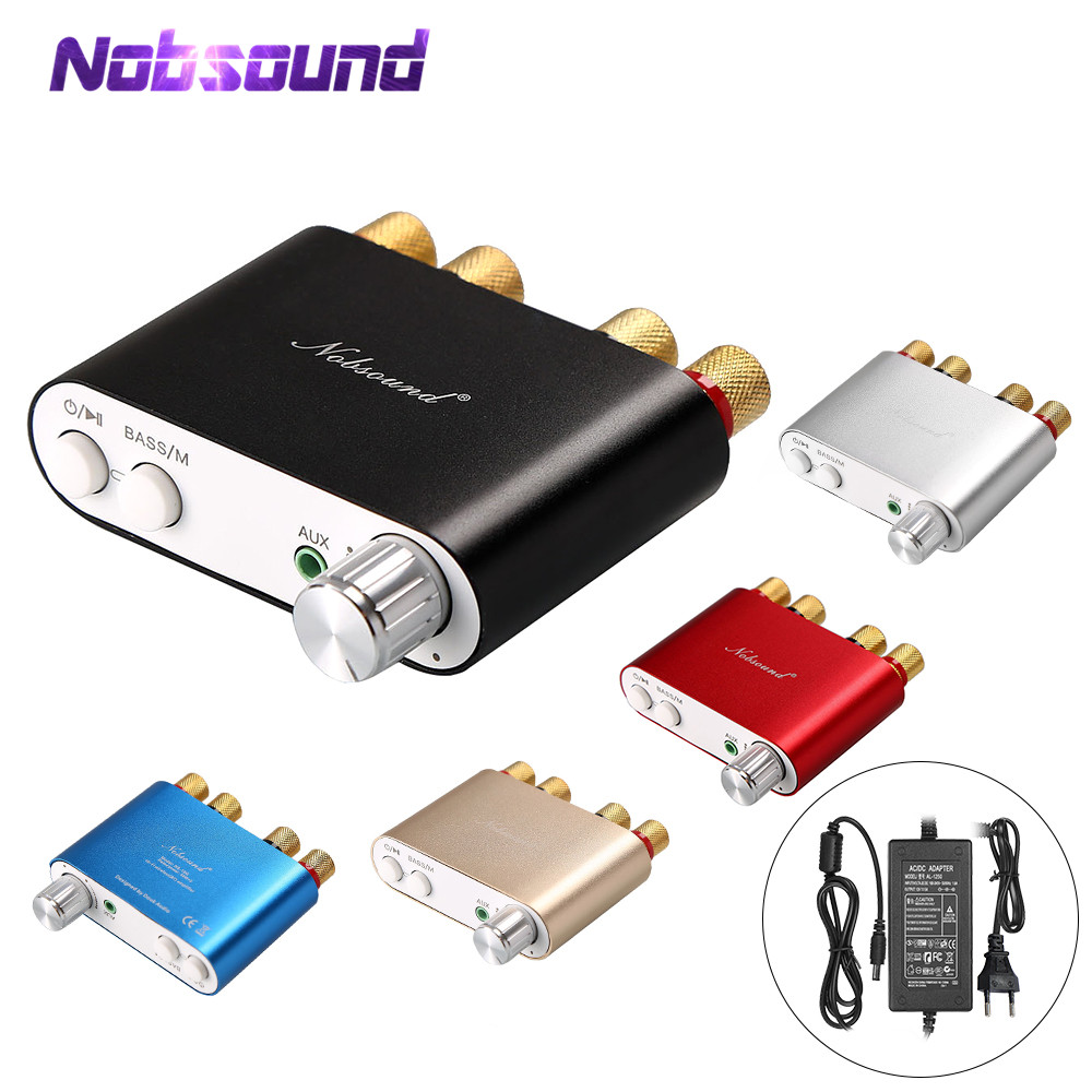 2018 Lastest Nobsound HiFi 100 W TPA3116 Mini Bluetooth 4.0 Amplificatore Digitale Amp Home Audio Con Alimentatore SPEDIZIONE GRATUITA