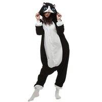 Polar Black Cat Cosplay Costume Cartoon Onesie Kigurumi Piżamy Halloween Carnival Masquerade Party Kombinezon Odzież