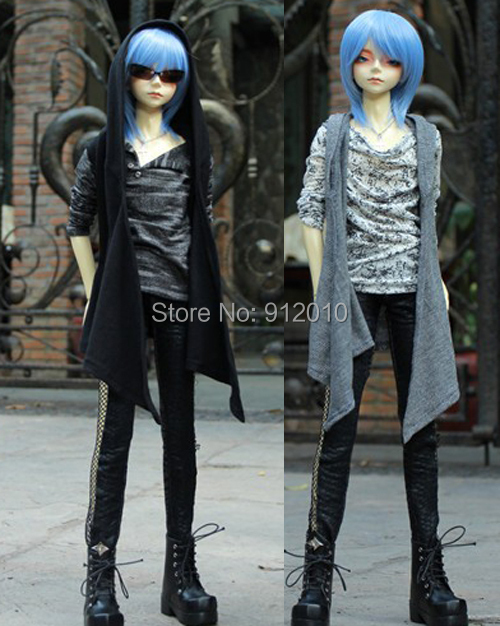 Cool Hoodie sleeveless Long Shirt  for BJD1/4,1/3 SD10 SD13 SD16,SD17,Uncle SSDF BJD Doll Clothes