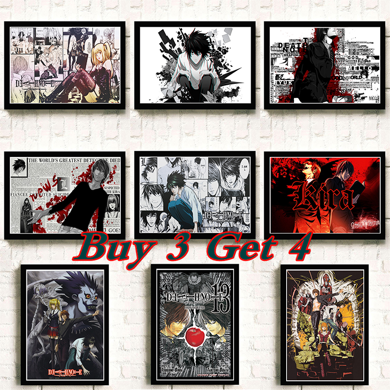 DEATH NOTE Cartoon Animation COMICS High Definition Printing Poster Bar Cafe Decoration Child Birthday Gift Paintings No Frame