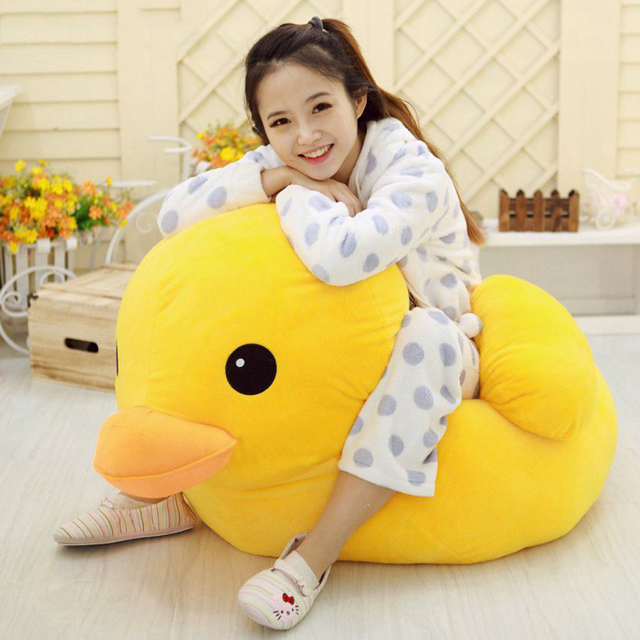 50cm 70cm Giant Yellow Duck Plush Toy Gifts Stuffed Animals Dolls Creative Plush Toys Juguete Birthday Gift Present 50T0078 1pcs 50cm stuffed dolls rubber duck hongkong big yellow duck plush toys hot sale best gift for kids girl
