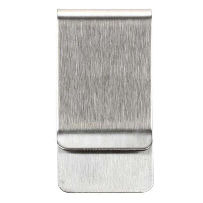 TFTP-5pc Money Clip Stainless Steel Matt-Silver Finish In Gift Box
