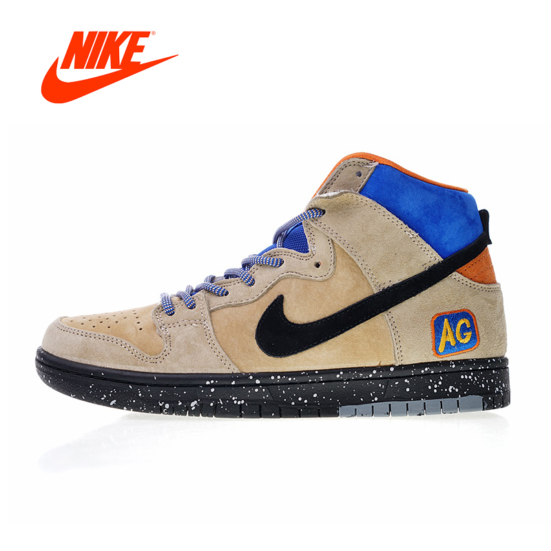 2018 Original New Authentic Nike SB Dunk High Mowabb x Acapulco Gold Men's Skateboarding Shoes Sneakers Men Flat 313171-207 кроссовки nike dunk low sb valentines day 313170 662