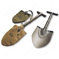 WW2 US ARMY USMC M1910 T HANDLE SHOVEL OUTDOORS TOOL WITH COVER 56CM