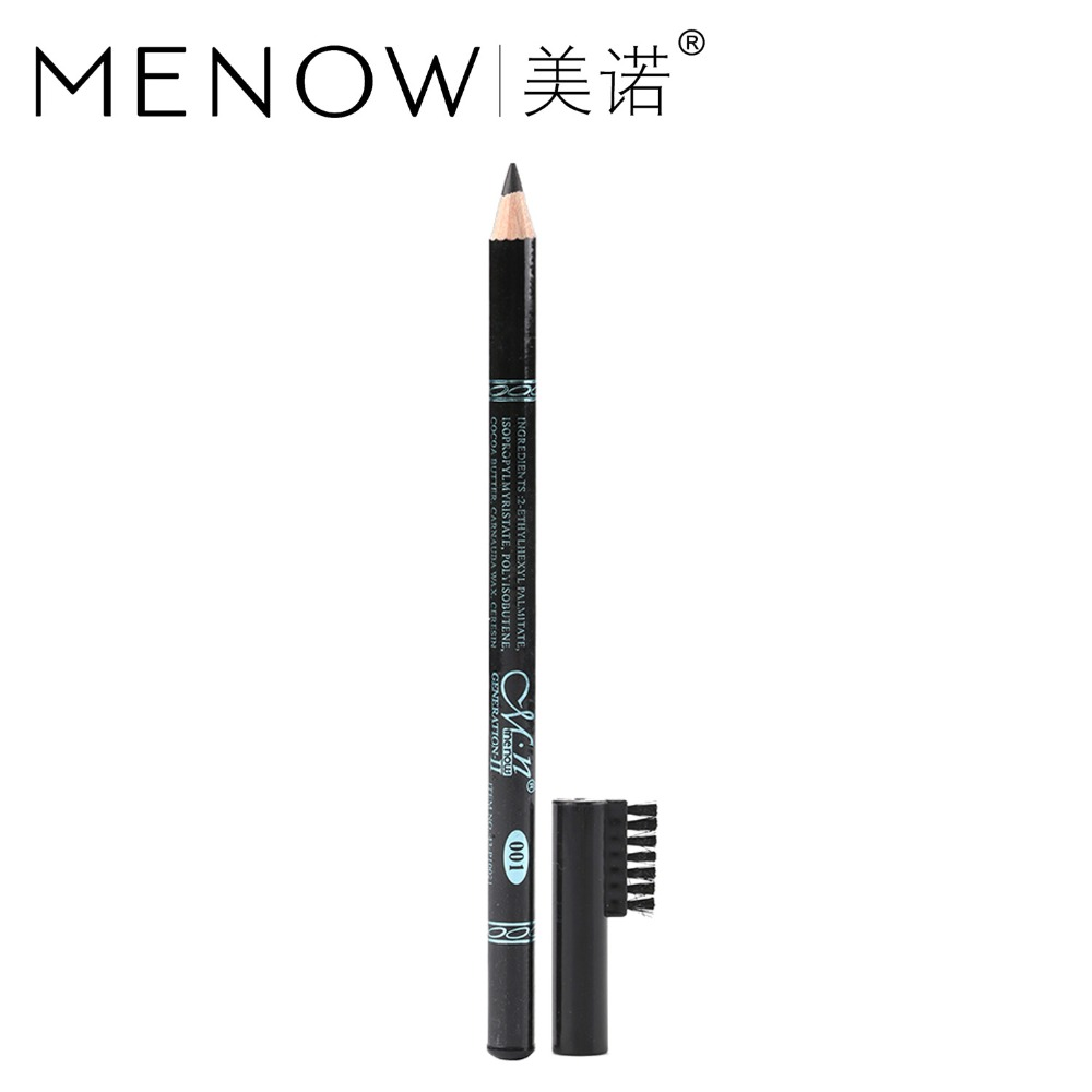 12Pcs/Set Menow Eyebrow Pencil With Eyebrow comb Waterproof Eyebrow Enhancer Sweat Non Blooming Eye Makeup Cosmetic Tool