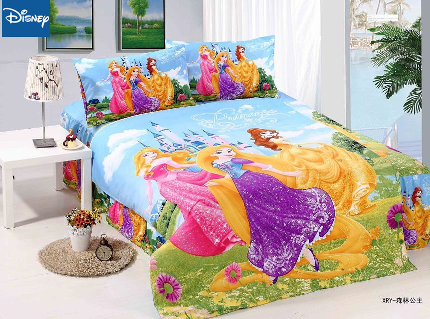 Snow White Bedding Set Single Bed Cover Beauty Disney Princess