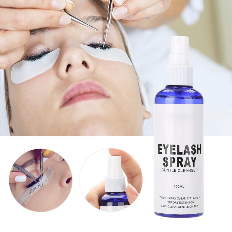 100ML Professional Eyelash Extension Cleanser Grafting Eyelash Remover Makeup Tool