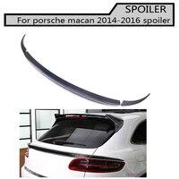 Carbon Fiber Hatchback Rear Middle Spoiler for Porsche Macan 2014 2016 Auto Racing Car Spoiler