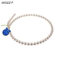 HOOZZ. P שנבחר בקפידה באיכות AA לבן יפני Akoya פנינים מתורבתות שרשרת שרשרת תכשיטי נשים