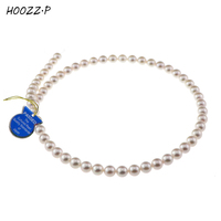 HOOZZ.P Handpicked AA Quality White Japanese Akoya Cultured Pearl Necklace For Women Jewelry Necklace