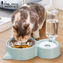 Hoopet Cat Bowl Dog Water Feeder Bowl Cat Kitten Drinking Fountain Food Dish Pet Bowl Goods(China)