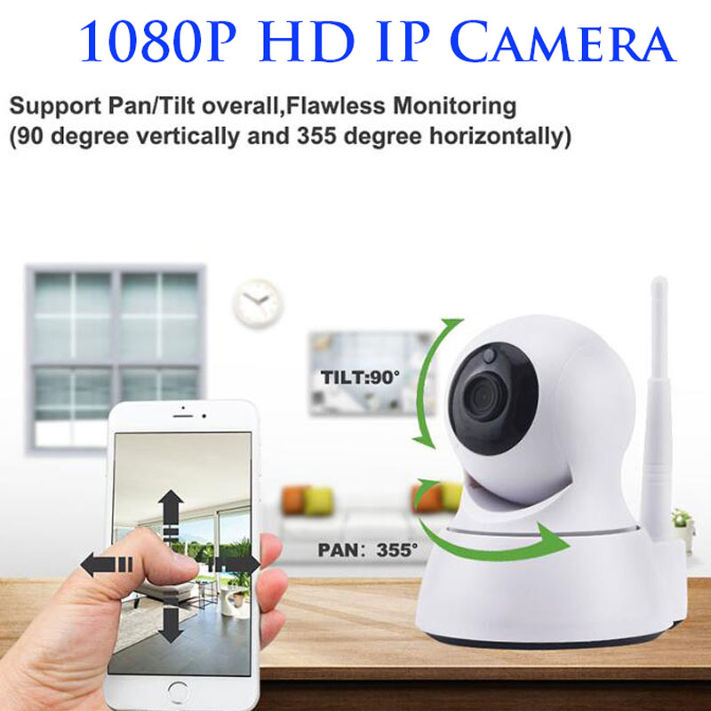 1080P Anti-theft Security Indoor Monitor Detection Alarm  Wifi Home Surveillance IP Camera HD Lens Baby Monitor DAY AND NIGHT