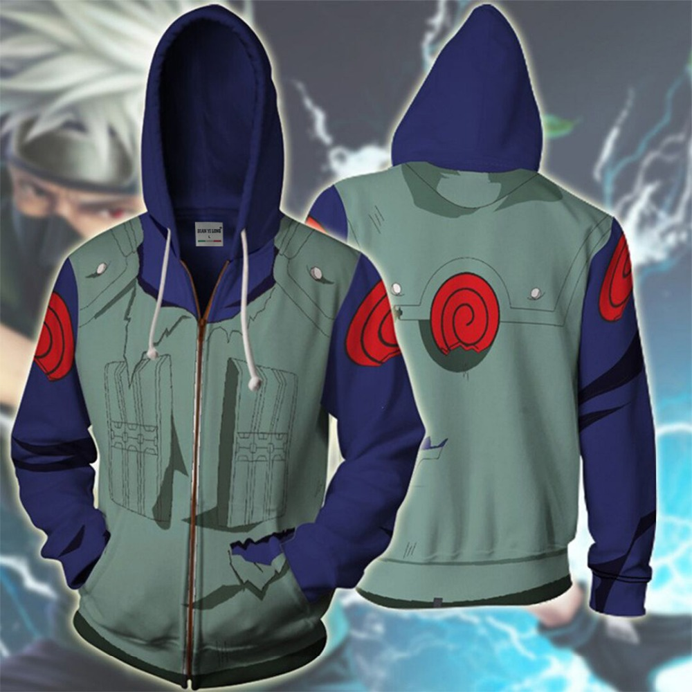BIANYILONG 2019 new men hooded Kakashi 3D printed hoodies tracksuit zipper hoody hip hop tops free store