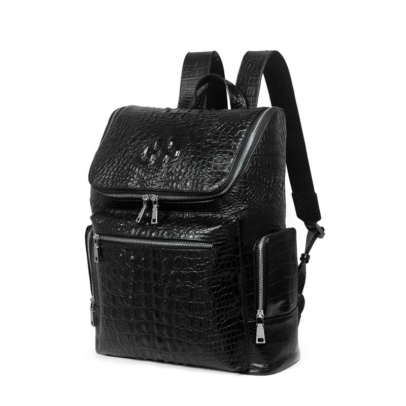 Spring And Autumn New Men Backpack Ieather Crocodile Pattern European And American Trend large Capacity Male Computer Bag stylish people and american flag pattern 10cm width men s wacky tie