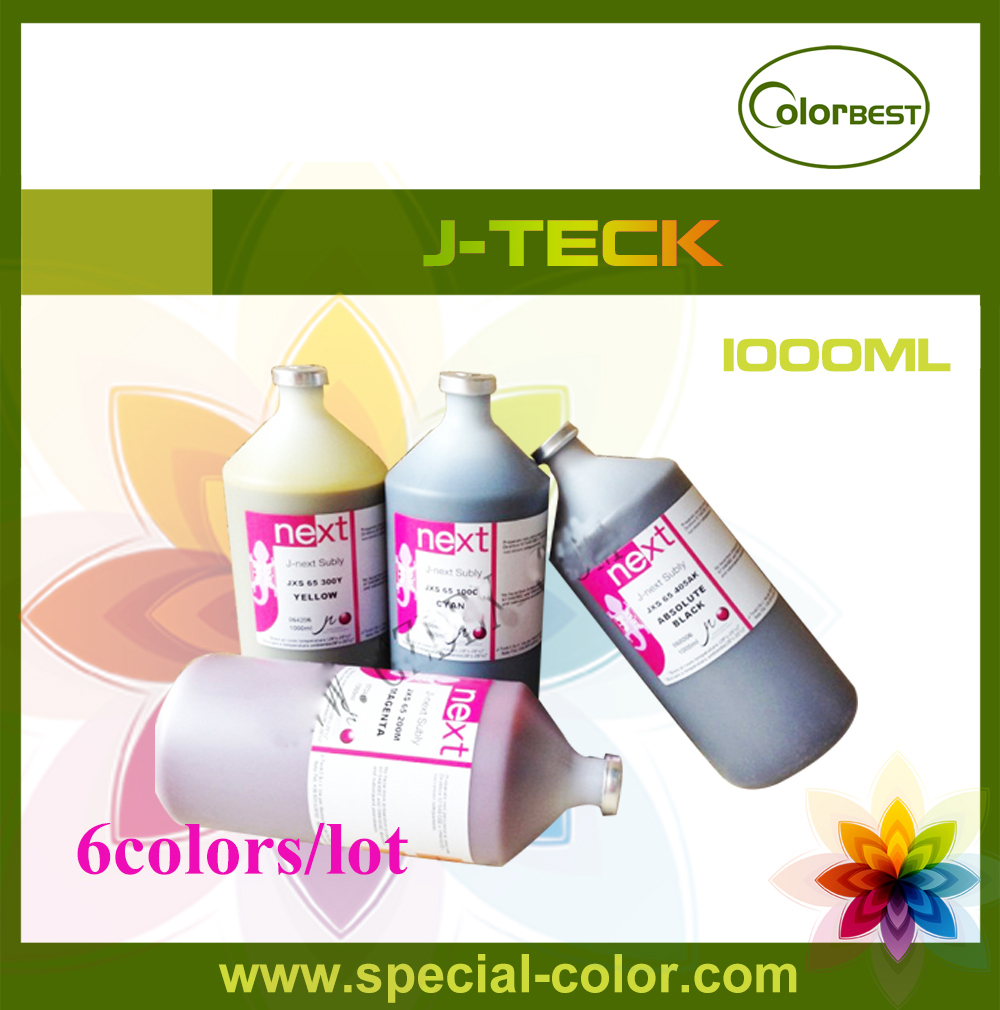 6colors/lot Italy J-next Subly JXS-65 1000ml Sublimation Ink in bottle for Epson DX4/DX5 Printhead цена 2017
