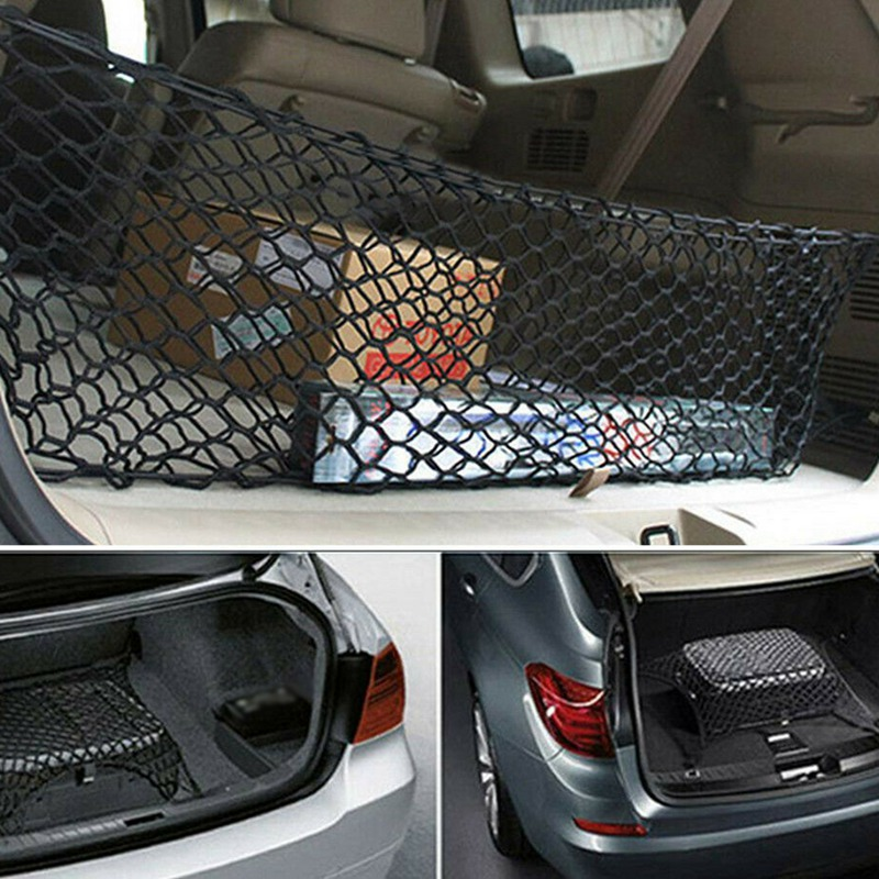 Universal Car Accessories Envelope Style Trunk Cargo Net Practical Durable Double Layer Envelope Style Trunk Elastic Net