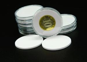 Image 2 - 20 sztuk/zestaw pamiątkowa moneta akrylowe okrągłe pudełka kolekcja monet pole ochrony 50 zestaw