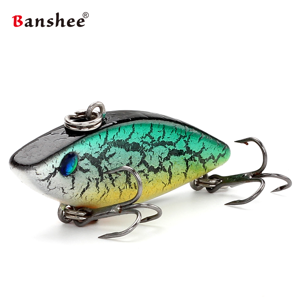 Banshee 40mm 4.5g crankbait mini vib isca de pesca lipless chocalho duro isca artificial afundando wobbler para equipamento de pesca