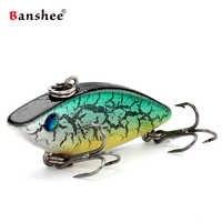 Banshee 40mm 4.5g Crankbait Mini Vib przynęty połowów przynęty pozbawione warg grzechotka twarde przynęty sztuczne tonący Wobbler dla sprzęt wędkarski