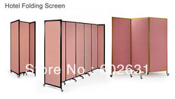 Heavy duty Metal fabric upholstered hotel partition hotel screen