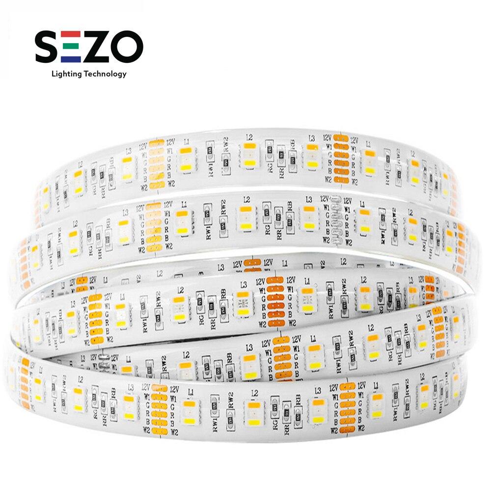 Tira de luces Led RGBW de 12v/24v, 5050, 5M, 60leds/m, iluminación de tiras Led RGBWW, cinta Led 4 en 1, 5 pines, colores combinados IP30/IP65/IP67 6 unids/lote 54X3W/36x3w LED placa base par RGBW DC 12-36V placa base de presión constante 4/8CH accesorio de luz de escenario profesional