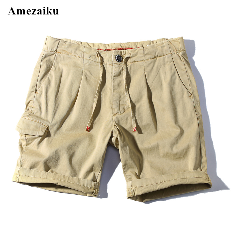 men shorts summer cargo shorts bermuda Homme solid casual men short zipper jogger men clothing