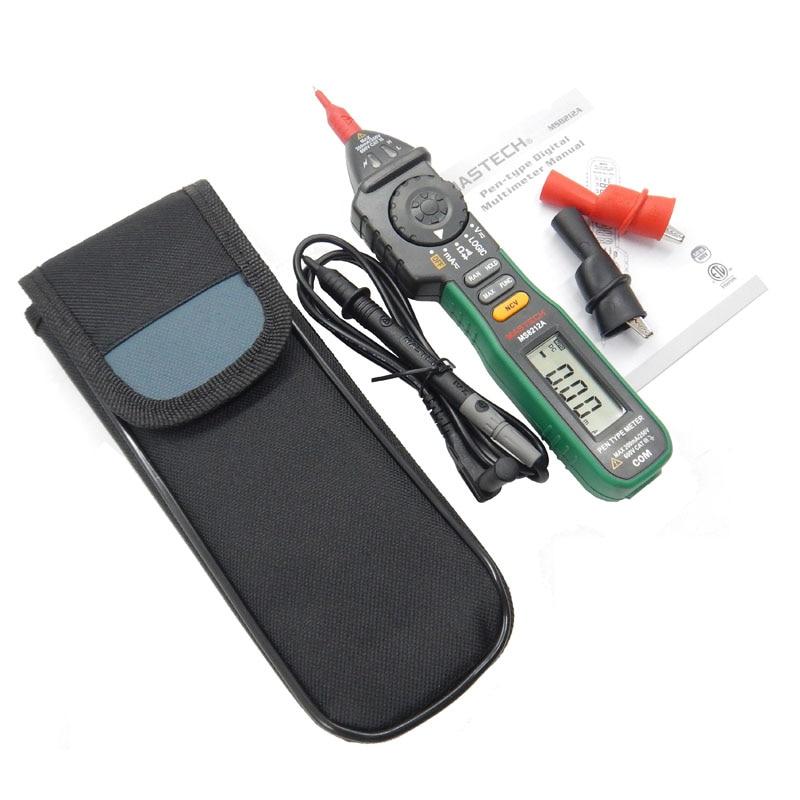 Mastech MS8212A Multimetro Pen type Non-contact Voltage AC DC Voltage Current Tester Multimetro Diode detector VS MS8211D