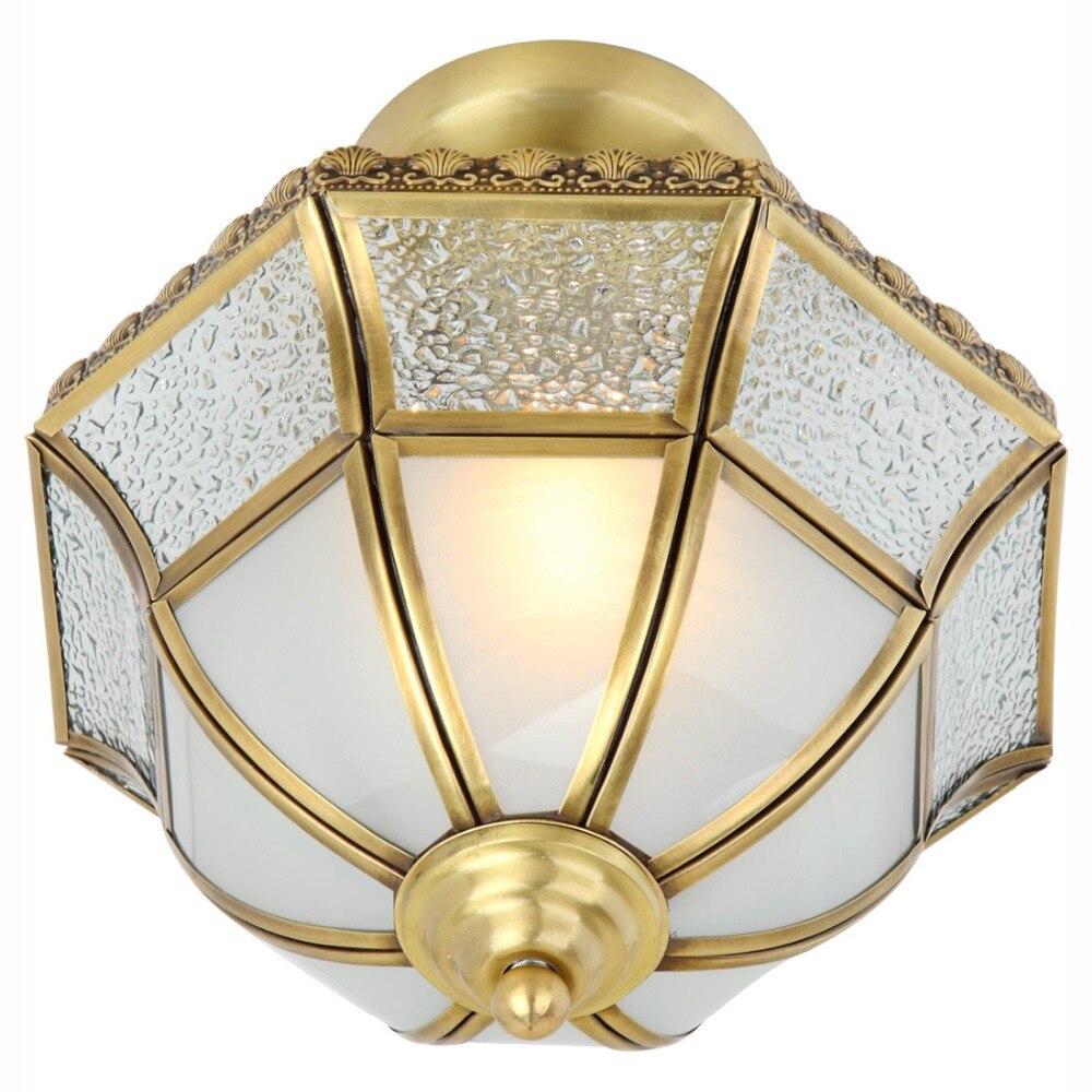 Classic Copper Ceiling Light for Bedroom Study Room Corridor 1 Single Head