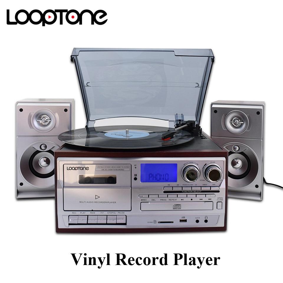 Looptone Bluetooth Виниловый проигрыватель фото