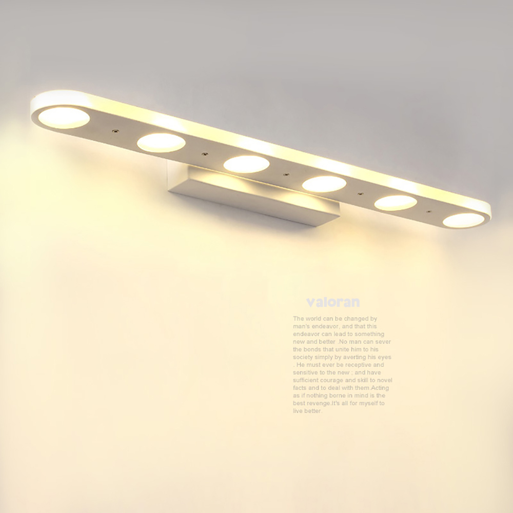 Freeshipping badkamer led spiegel licht ac85 265v draadloze make up moderne ontwerp muur lampen loft