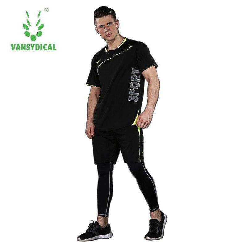 Hommes sport costume costumes de course à sec costume pantalon serré été basketball fitness vêtements de fitness à manches courtes