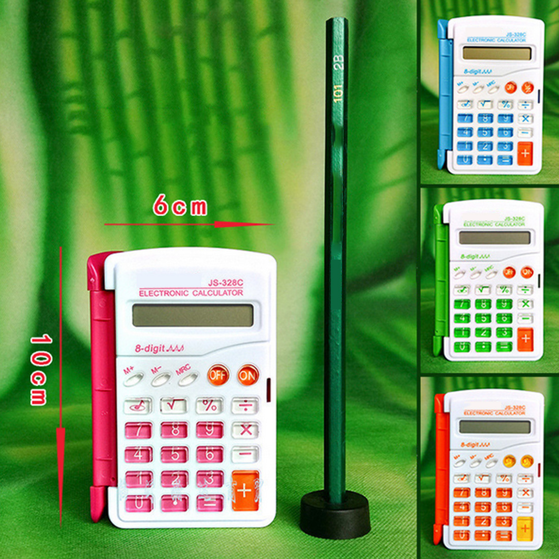 Etmakit Топ Карамельный цвет офисные мини-научный калькулятор школьников Функция калькулятор multi Функция al часы калькулятор