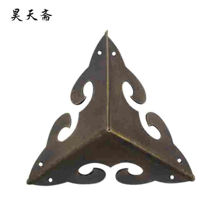 купить [Haotian vegetarian] Chinese antique furniture copper live Zhangmu Xiang corners piece copper three bread angle HTG-016 дешево
