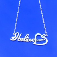 Toptan gümüş kalp adı kolye moda kadınlar takı özel etiket asılı kişiselleştirilmiş hediye onu