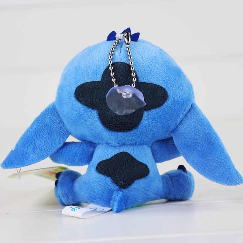 """Bonecos de pelúcia lilo stitch, 4 """"10cm, brinquedos de pelúcia, com chaveiro, macio, recheado para crianças, presentes do bebê"""
