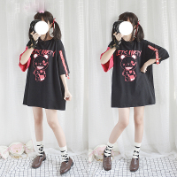 Japanese Sweet Lolita Harajuku Fashion Bear Graphic Punk Style Loose T shirt Female Street Gothic Short Sleeve Tops Tee Shirts