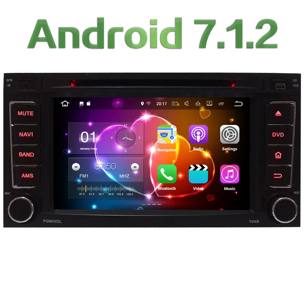 2GB RAM Quad Core Android 7 1 2 Multimedia 4G DAB Car DVD Player Audio Stereo