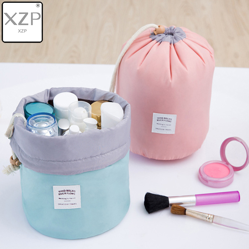 XZP Toilet Bag Round Waterproof Makeup Bag Travel Cosmetic Bag Organizer Toiletry Makeup Bags For Women Ladies Box Neceser
