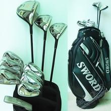 Cooyute New Golf clubs KATANA SWORD SF-1Golf Compelete set Golf driver+3/5wood+irons+bag Graphite Golf shaft Free shipping
