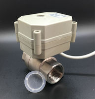TFM20 S2 C, DC9V 24V New 2 Way SS304 3/4'' DN20 Modulating Valve 0 5V, 0 10V or 4 20mA 5 Wires For Water Proportional Control