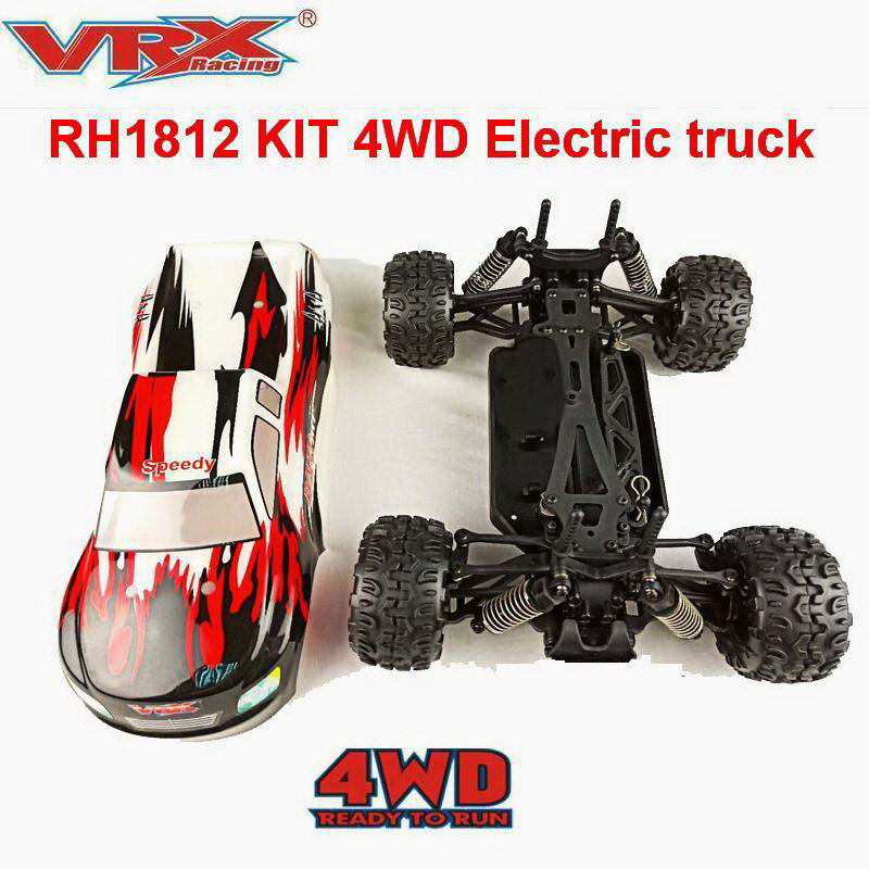 RC car VRX Racing RH1812 1817 KIT 1 18 scale 4WD truck without electronics Toys for