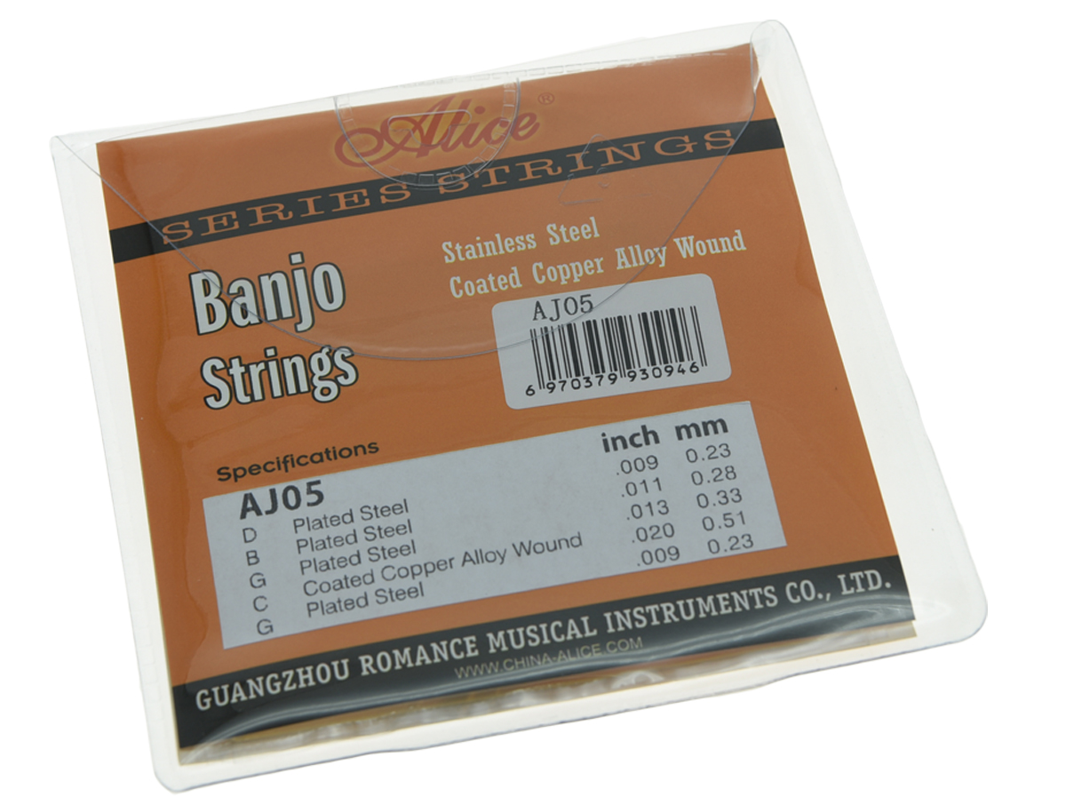 Alice 5 String Banjo Strings Coated Copper Alloy Wound and Plated Steel String 0 high quality alice a105bk h hard tension black nylon silver plated classical guitar strings copper alloy wound 1st 6th strings