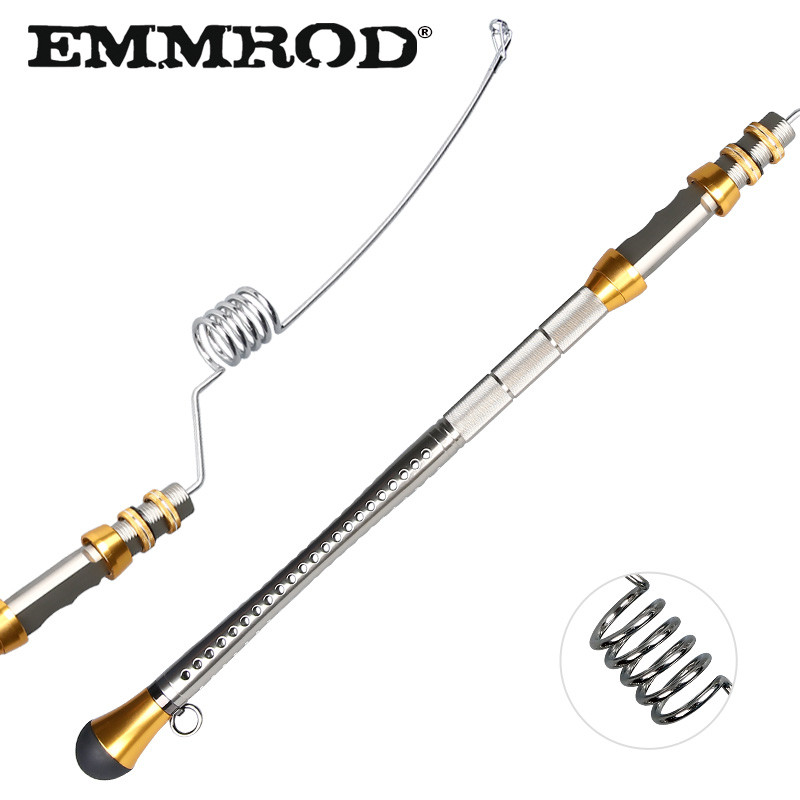 EMMROD Spinning Fishing Rod 80CM Sea Boat Rock Lure fishing rod Strong Stainless steel Telescopic fishing rod GGZ