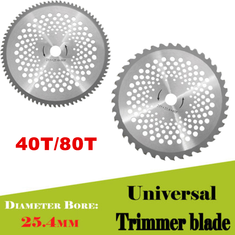 Teeth Carbide Tip Blade Bore 10 inch 40/80T For Brush Cutter Trimmer Bore Diameter 25.4mm Garden Tool Parts