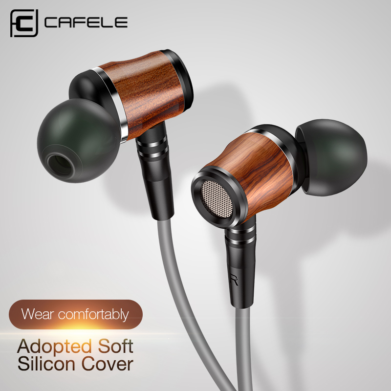 Cafele Earphone Headphone for iPhone 6 Xiaomi Headset Gaming Wood Earphone with Mic for Samsung Earphone 120cm 3.5mm h 264 1mp hd 720p ip camera poe outdoor ip66 network 1280 720 bullet security cctv camera p2p onvif night vision 40m ip camera