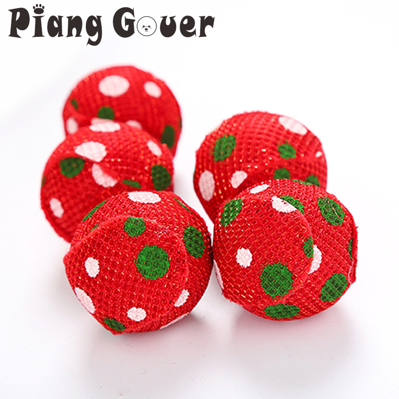 10pcs Lot Patch Small Red Dot Cats Ball Toy Christmas Pet