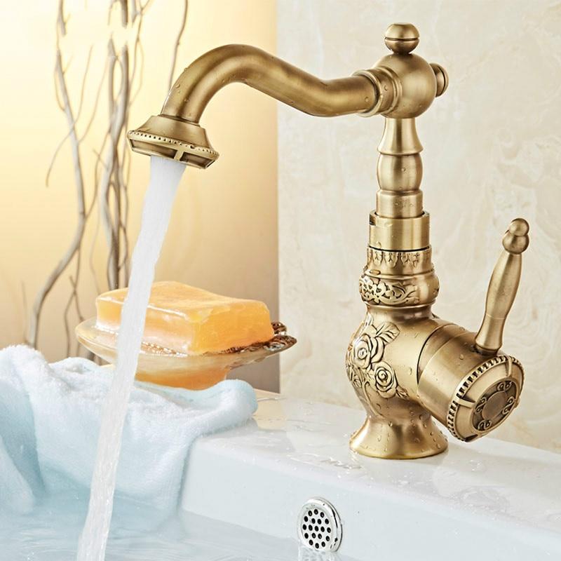 European Antique Copper Faucet Hot Tub Sink Basin Bath Hardware