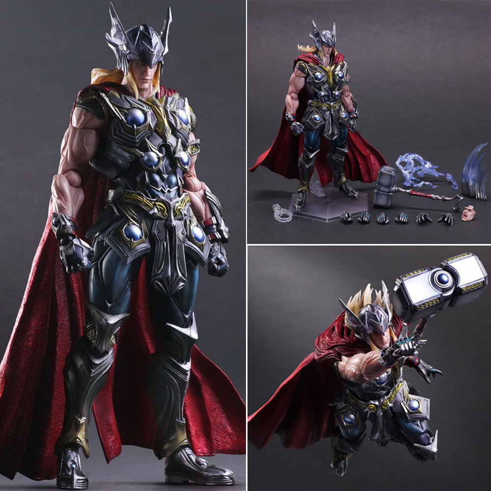 Marvel Universe Variant Play Arts Kai Thor Hero PVC Action Figure Model Collectible Toys 26cm Gifts цена